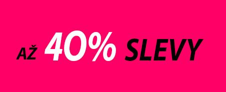 Sleva až 40%